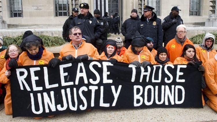 Manifestation contre la prison de Guantanamo (AFP)