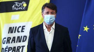 Le maire Les Républicains de Nice lors d'une conférence de presse, à Nice (Alpes-Maritimes), le 19 août 2020. (VALERY HACHE / AFP)
