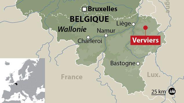 (Carte de localisation de Verviers, en Belgique © IDÉ)