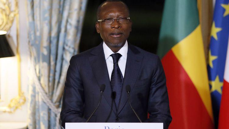 Le président du Bénin Patrice Talon lors de sa visite à l'Elysée, à l'invitation d'Emmanuel Macron, le 5 mars 2018. (ETIENNE LAURENT / POOL)