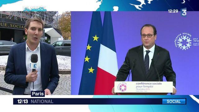 François Hollande défend le dialogue social
