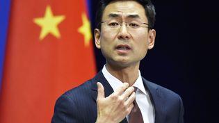 Le porte-parole de la diplomatie chinoiseGeng Shuang en novembre 2017. (MAXPPP)