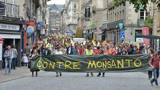 Au moins1 500 ont défilé à Rennes (Ille-et-Vilaine), samedi 23 mai. (CITIZENSIDE / KÉVIN NIGLAUT / AFP)