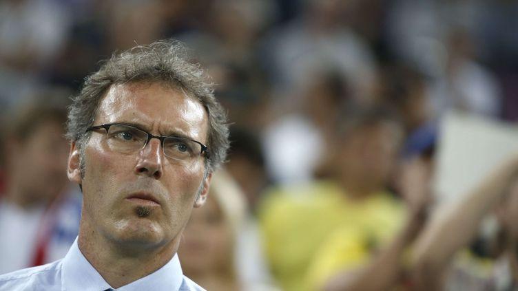 Laurent Blanc lors du match Espagne-France, le 23 juin 2012 à Donetk (Ukraine). (LAURENT CIPRIANI / SIPA)