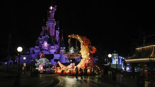 Le parc de Disneyland Paris, le 21 mars 2017, à Marne-la-Vallée (Seine-et-Marne). (GEOFFROY VAN DER HASSELT / AFP)