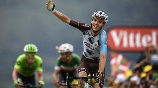 Romain Bardet (AG2R La Mondiale) a remporté la 12e etape du Tour de France 2017, le 13 juillet, à Peyragudes (Hautes-Pyrénées). (LIONEL BONAVENTURE / AFP)