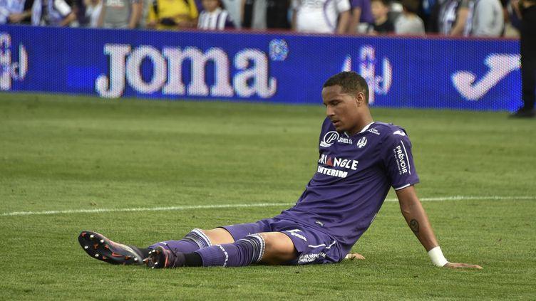 Christopher Jullien (TFC) dépité après la défaite contre Lille le week-end dernier. (PASCAL PAVANI / AFP)