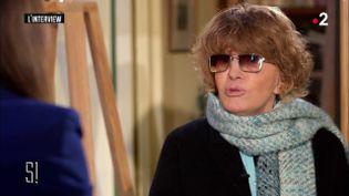 Nadine Trintignant, le 12 mars sur France 2. (FRANCE 2)