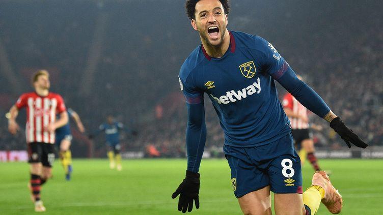 Felipe Anderson a signé un doublé pour West Ham face à Southampton (GLYN KIRK / AFP)