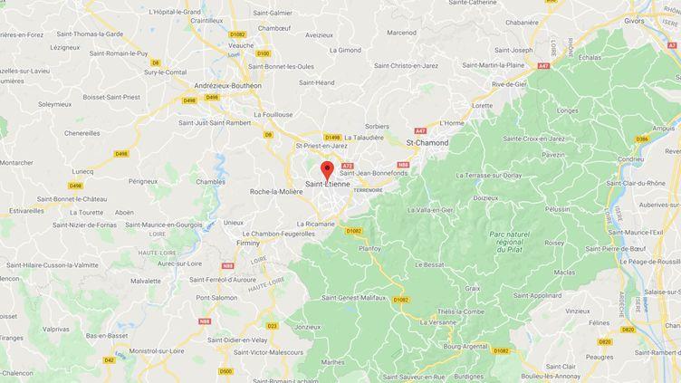 Saint-Etienne, dans la Loire. (GOOGLE MAPS)