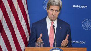 le secrétaire d'Etat américain John Kerry, à New Delhi (Inde), le 1er août 2014. (LUCAS JACKSON / AFP)