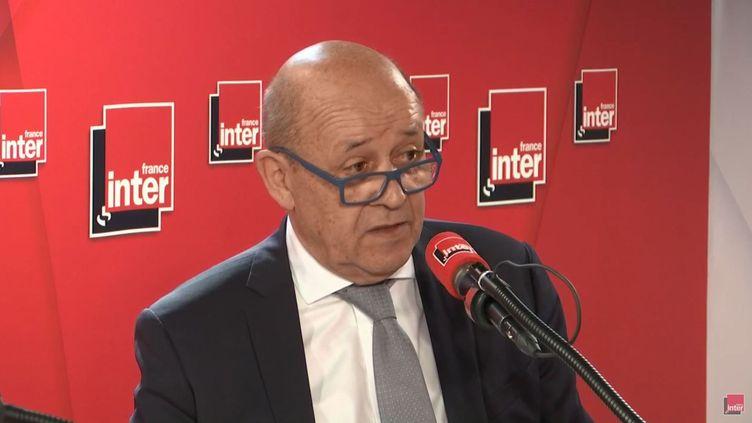 Jean-Yves Le Drian, mardi 28 mai 2019 à Paris. (FRANCEINTER)