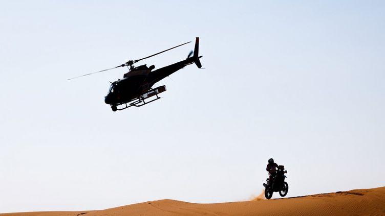 Un pilote français a été évacué vers l'hôpital (JULIEN DELFOSSE / DPPI MEDIA)