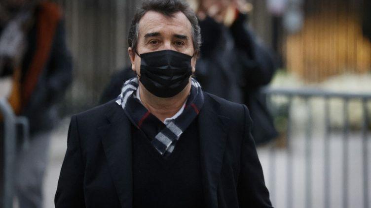 Arnaud Lagardère, le 8 janvier 2021 à Paris. (LUDOVIC MARIN / AFP)