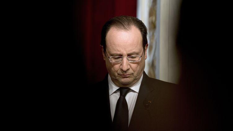 François Hollande, au palais de l'Elysée, à Paris, le 23 janvier 2014. (ALAIN JOCARD / AFP)