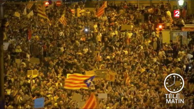 Espagne : manifestations monstres à Barcelone