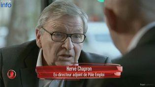 Hervé Chapron, ex-directeur adjoint de Pôle emploi. L'angle éco, décembre 2014. ( CAPTURE ECRAN FRANCE 2)