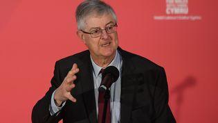 Mark Drakeford, le chef du parti travailliste gallois, le 7 décembre 2019 à Swansea (pays de Galles). (DANIEL LEAL-OLIVAS / AFP)