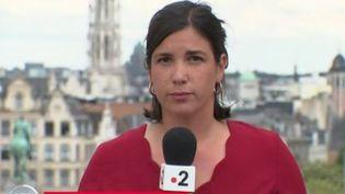 Claire Colnet, en direct de Bruxelles, le dimanche 2 août 2020. (FRANCE 2)