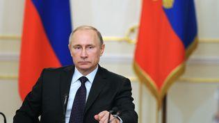 Vladimir Poutine, le 4 février 2015 à Moscou (Russie). (MICHAEL KLIMENTYEV / RIA NOVOSTI / AFP)