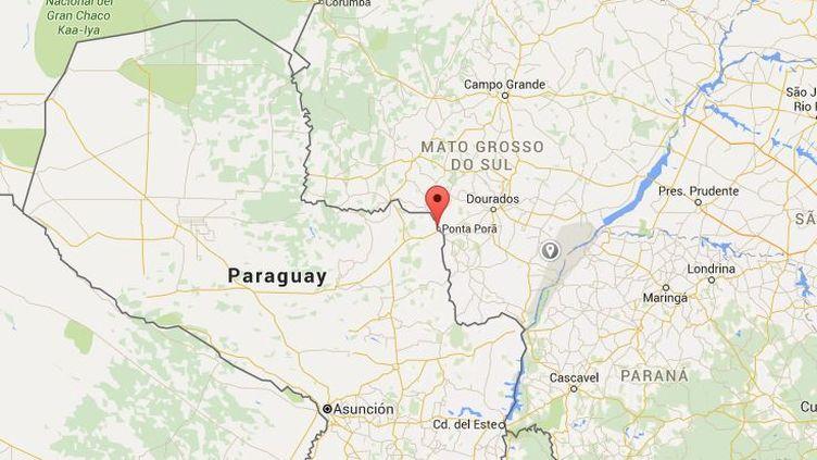 La région de Pedro Juan Caballero, au Paraguay, où unFrançais de 71 ans a été abattu le8 mars 2016. (GOOGLE MAPS)