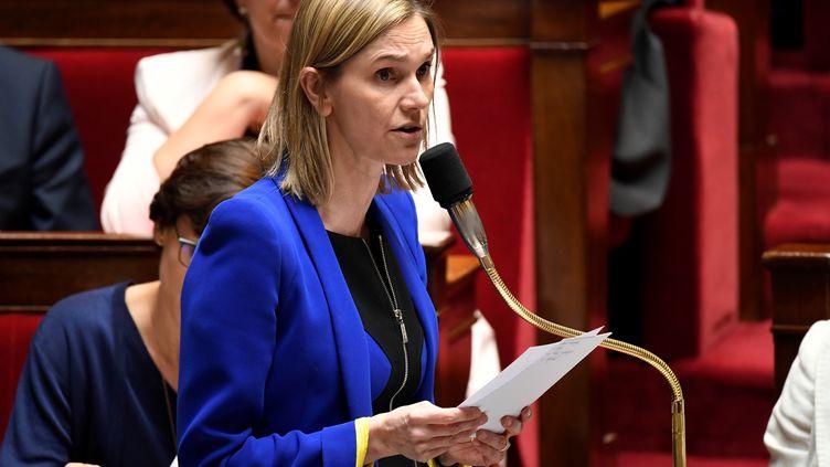 La secrétaire d'Etat à l'économie Agnès Pannier-Runacher, à l'Assemblée nationale, à Paris, le 10 avril 2019. (BERTRAND GUAY / AFP)