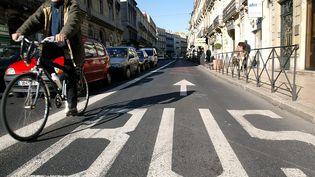Les bus sont désormais gratuits le week-end à Montpellier (photo d'illustration). (DOMINIQUE FAGET / AFP)