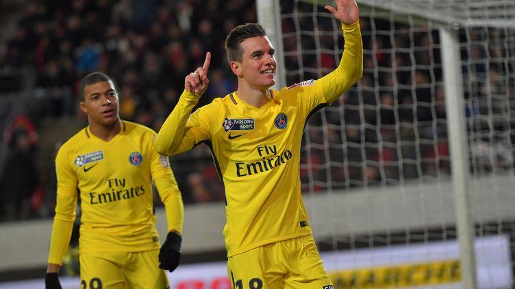 Lo Celso face à Rennes en Coupe de la Ligue. (LOIC VENANCE / AFP)