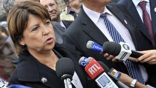 Martine Aubry, finaliste à la primaire de gauche (THIERRY ZOCCOLAN / AFP)