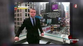 Emmanuel Macron à New York (FRANCE 2 / FRANCETV INFO)