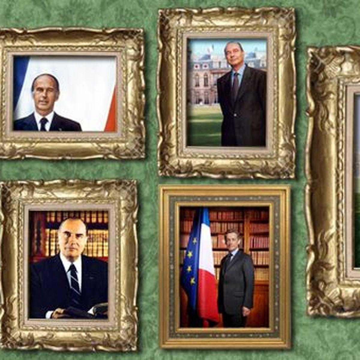 Tous les portraits officiels des présidents depuis le Général de Gaulle