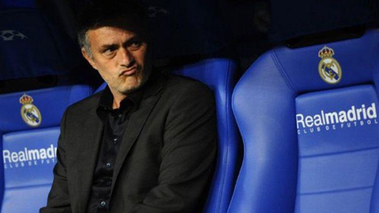 José Mourinho, sur le banc du Real Madrid à Bernabeu.