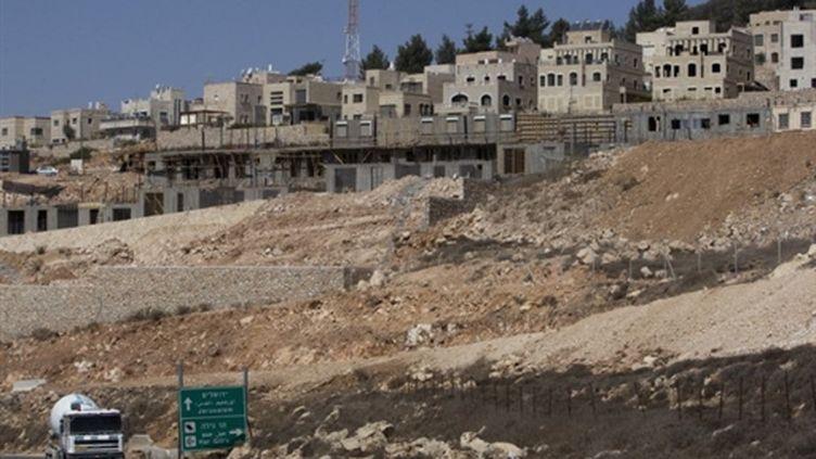 La colonie de Har Gilo, près de la ville de Bethléhem (Cisjordanie), le 27 septembre 2010 (AFP - AHMAD GHARABLI)