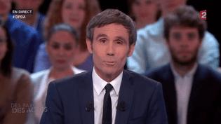 """David Pujadas a présenté la dernière émission de """"Des Paroles et des actes"""", jeudi 26 mai sur France 2. (FRANCE 2)"""