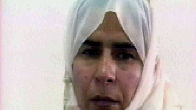 Capture d'écran d'un reportage de la télévision jordanienne montrantSajida Al-Rishawi, condamnée à mort pour sa participation à des attentats perpétrés en 2005 à Amman (Jordanie). (JORDANIAN TV / AFP)