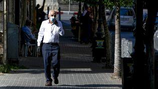 Dans une rue de Ramallah, le 13 juillet 2020. Photo d'illustration. (ABBAS MOMANI / AFP)