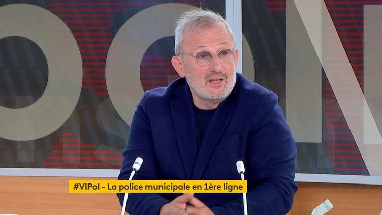 François Pupponi, le 28 mai 2021, sur la chaîne franceinfo. (VIPol)