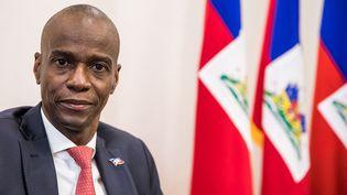 Le président d'Haïti,Jovenel Moise, au palais présidentiel, lors d'une interview à Port-au-Prince, le 22 octobre 2019. (VALERIE BAERISWYL / AFP)