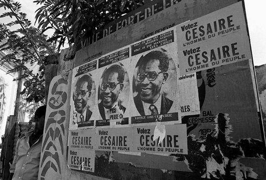 Affiches de campagne en faveur d'Aimé Césaire à l'occasion des élections municipales de 1945 à Fort de France  (DR)