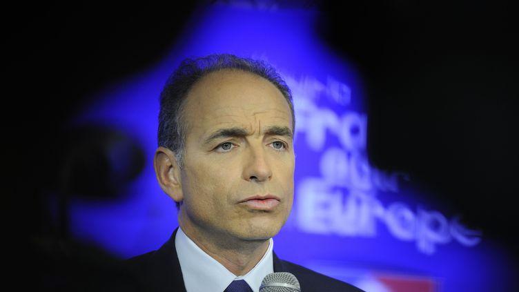 Le président de l'UMP, Jean-François Copé, s'exprime au siège du parti, le 25 mai 2014, à Paris. (WITT/SIPA)