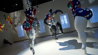L'exposition Niki De Saint Phalle au Grand Palais, à Paris, le 17 septembre 2014. (LIONEL BONAVENTURE / AFP)