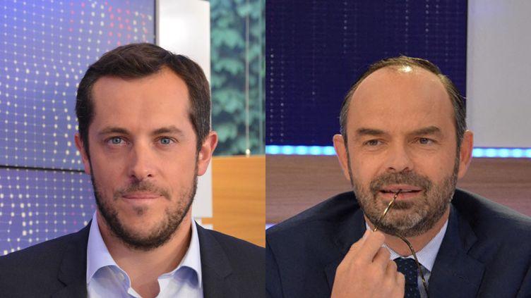 Nicolas Bay et Édouard Philippe. (FRANCEINFO / RADIO FRANCE)