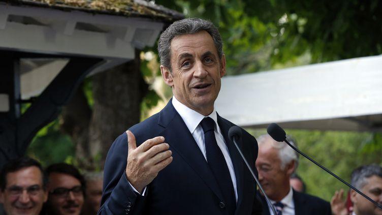 Nicolas Sarkozy, président des Républicains, le 18 juin 2015 à L'Isle-Adam (Val-d'Oise). (FRANCOIS GUILLOT / AFP)