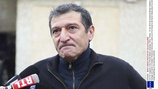 Michel Catalano, patron de l'imprimerie CTD de Dammartin-en-Goële (Seine-et-Marne), où s'étaient retranchés les frères Kouachi, le 10 janvier 2015. (DAVID ROSE / REX / SIPA)