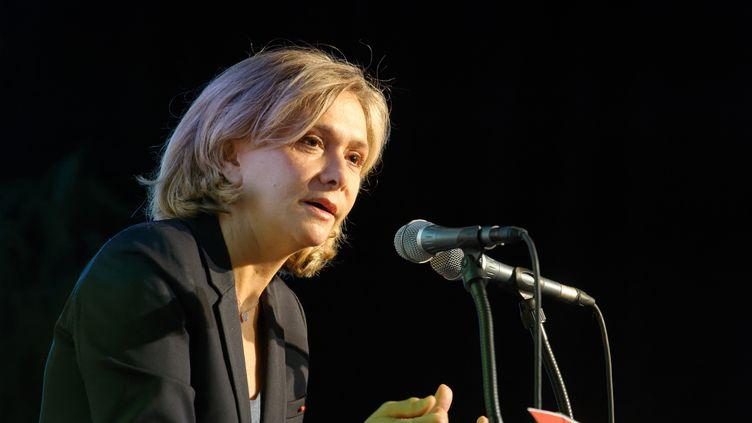La présidente de la région Ile-de-France Valérie Pécresse, lors d'un meeting du parti Le Printemps Républicain, le 30 novembre 2019, à Paris. (DANIEL PIER / NURPHOTO / AFP)