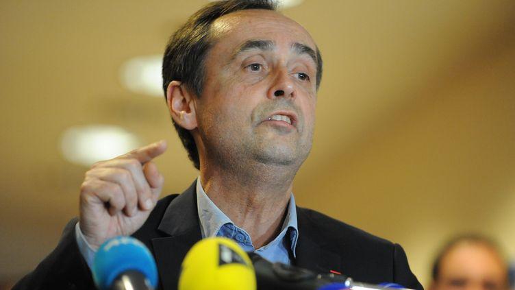 Robert Ménard à Béziers (Hérault), le 30 mars 2014. (SYLVAIN THOMAS / AFP)