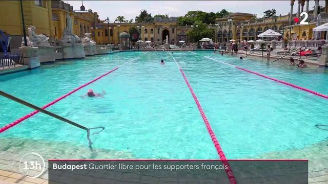 Euro 2021 : avant le match, pause dans les bains thermaux de Budapest pour les supporters français
