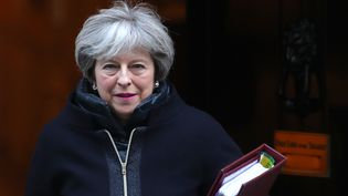 La Première ministre britannique Theresa May à Londres, le 17 janvier 2018. (DANIEL LEAL-OLIVAS / AFP)