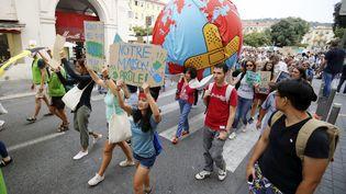 Lors d'une marche pour le climat àNice le 21 novembre 2019. Photo d'illustration. (DYLAN MEIFFRET / MAXPPP)