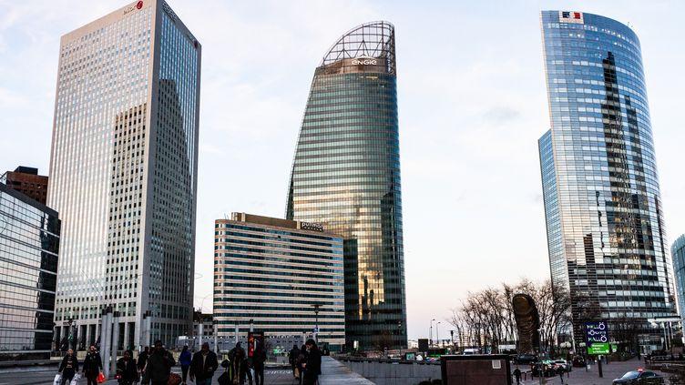 Le quartier d'affaires de La Défense (Hauts-de-Seine). (AMAURY CORNU / HANS LUCAS)